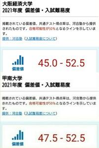 甲南大学と大阪経済大学だったらどっちが上ですか? 将来性も踏まえてどちらがいいですか?