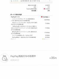 ヤフーショッピングでPayPay払いのキャンペーンだったのを楽しみに買ったのですが、3580円の支払いで784円相当がつくと思っていたのですが付与予定なのが35円です。 どういうことなのでしょうか?