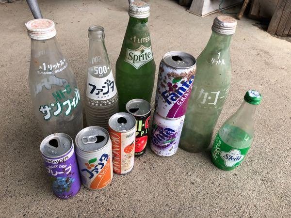 おばあちゃん家を掃除してたらこれが出てきました。この缶と瓶は珍しいのですか?