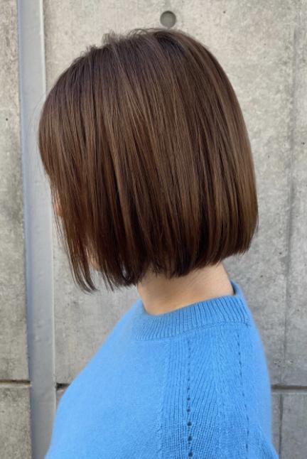 写真のようなボブができる髪質と髪の量を教えてください