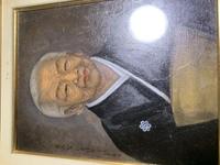 爺さんの家からでてきたのですが、この油絵の人物、作画は誰なのか詳しく方教えて欲しいです