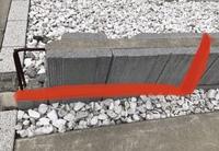 ブロックの赤い部分を切断したいです。ホームセンターで借りる道具はどれを使うのが良いでしょうか? 丸鋸・ジグソー・グラインダー・サンダー・電動のこぎり