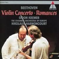名盤と噂されるギドン・クレーメルのニコラウス・アーノンクール指揮のベートーヴェン:ヴァイオリン協奏曲を初めて鑑賞したのですがカデンツ ァのところからいきなりティンパニとピアノが鳴り出して思わず笑って...