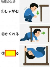 地震が来た時の対処法をおしえて下さい!