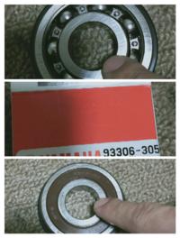 sr400のアクスルドライブのところのベアリングですが、新品注文して届いたものを指で回してみたんですが、表と裏で回り方が全然違いました。ボールが見えてる側のインナーを回すと重たく、反対にしてシールが見える 方のインナーを回すと軽くスルスルと回ります。これって正常ですか?
