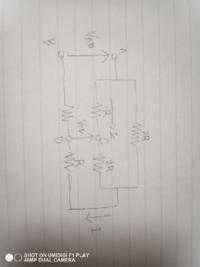図の回路でC-D間の端子電圧がVcd=54Vのとき、端子A-B間の電圧Vabの値の求め方を教えて下さい