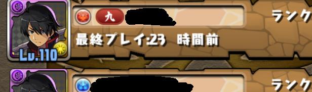 パズドラ このプレイヤー名のところにある「九」とはなんですか?