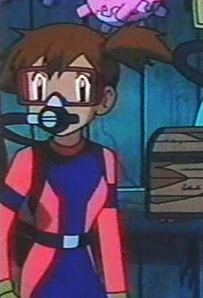 画像見てほしいです! ポケットモンスターに登場した「カスミ」です。個人的に好きです! スキューダイビングをしている所なのですが、ウェットスーツを着ているカスミかっこいいですか?