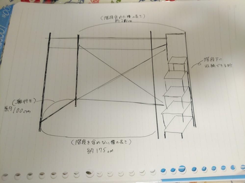 ロフトベッドが欲しいです。学生なのでできるだけ安いやつがいいです あと、 下に机と収納をおきたいのですが、部屋が狭いので小さめがいいです。 画像に書いてある長さくらいまでしか置けません…… 後...