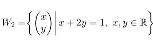 線形数学の問題を教えて下さい。 写真の R² の各部分集合が, R² のあるベクトル組 {x₁ , ...,Xₘ}によって張られる空間か調べる問題について, 解き方を教えて下さい。 (この直線...