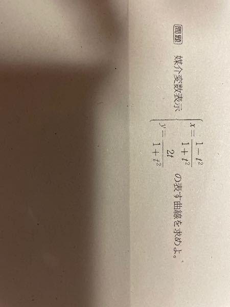 数学Ⅲの媒介変数表示の単元です。この問題を教えてください。