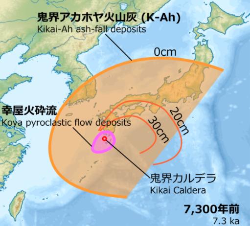 鬼界カルデラ噴火の予兆でしょうか? もし、鬼界カルデラ噴火なら、日本人は鬼界に入り、日本終了ですか? 破局噴火(はきょくふんか)「Supervolcano」は、地下のマグマが一気に地上に噴出する壊滅的な噴火形式を表す用語。 通常の噴火と異なり、噴火の破壊力は壊滅的な威力となり、火砕流も放射状360度の方向に流走し広大な面積を覆う。半径数十kmの範囲で生物が死滅するばかりでなく、大量の噴出物が成層圏界面(高度約50km)やその上の中間圏にまで達する結果[7]、地球の気温が下がったり、種族の絶滅の原因になることもある。爆発の後は、地表は大きく陥没しカルデラが形成される[8]。 このような噴火は九州や北海道をはじめ本州でも何度も起こってきた。阿蘇カルデラ、姶良カルデラ(鹿児島湾北部)、摩周カルデラ、鬼界カルデラ、十和田カルデラなどがその例である。 ___________ https://news.yahoo.co.jp/articles/e77622c679e8e3f8d52e665704aa66ce9c71c7a3 トカラ列島・十島で地震相次ぐ 専門家「大きな地震含め警戒を」 4/12(月) 鹿児島県南方のトカラ列島の十島(としま)村で、地震が相次いでいる。気象庁は9日午後11時から12日午後3時までに、震度4の揺れを4回、震度3を15回など、震度1以上を213回観測した。トカラ列島近海では、過去の群発地震で震度5強の揺れもあり、仲谷幸浩・鹿児島大特任助教(海域地震学)は「より大きな地震も含めて警戒が必要だ」と注意を呼びかける。