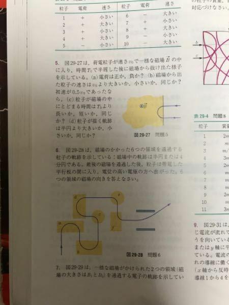 磁場の問題です。5と6の考え方がわかりません。わかる方いましたら教えて頂きたいです。よろしくお願いします。