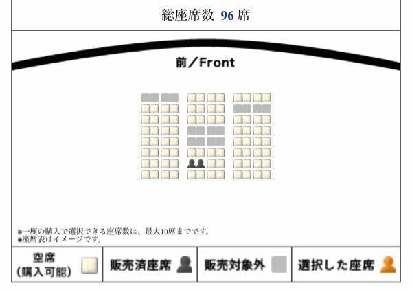 4DXの席は、画像の中だとどこがオススメですか? 地元の映画館では96席と小さい?ので、参考になるサイトがないです。96席スケールだとどこがオススメでしょうか?