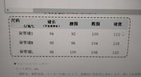 中国語のサイズ表記です。  こちらわかる方いらっしゃいますでしょうか。。  真ん中2つのウエストとヒップはわかったのですが、、