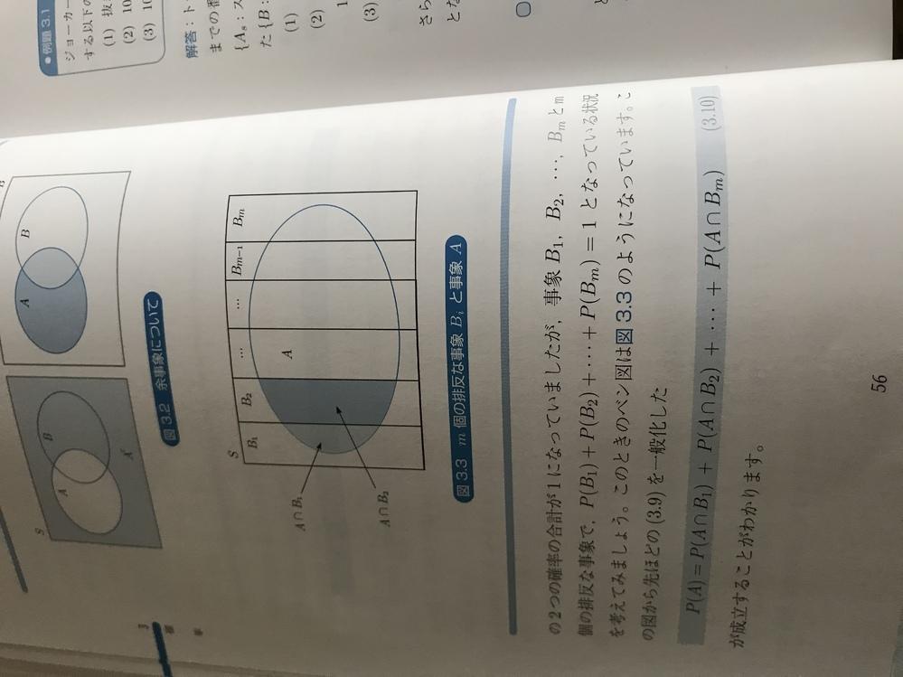 この写真の(3.10)式になる意味が分かりません。Aがずのようでない時も成立する式なのでしょうか? どなたか回答お願いいたします。