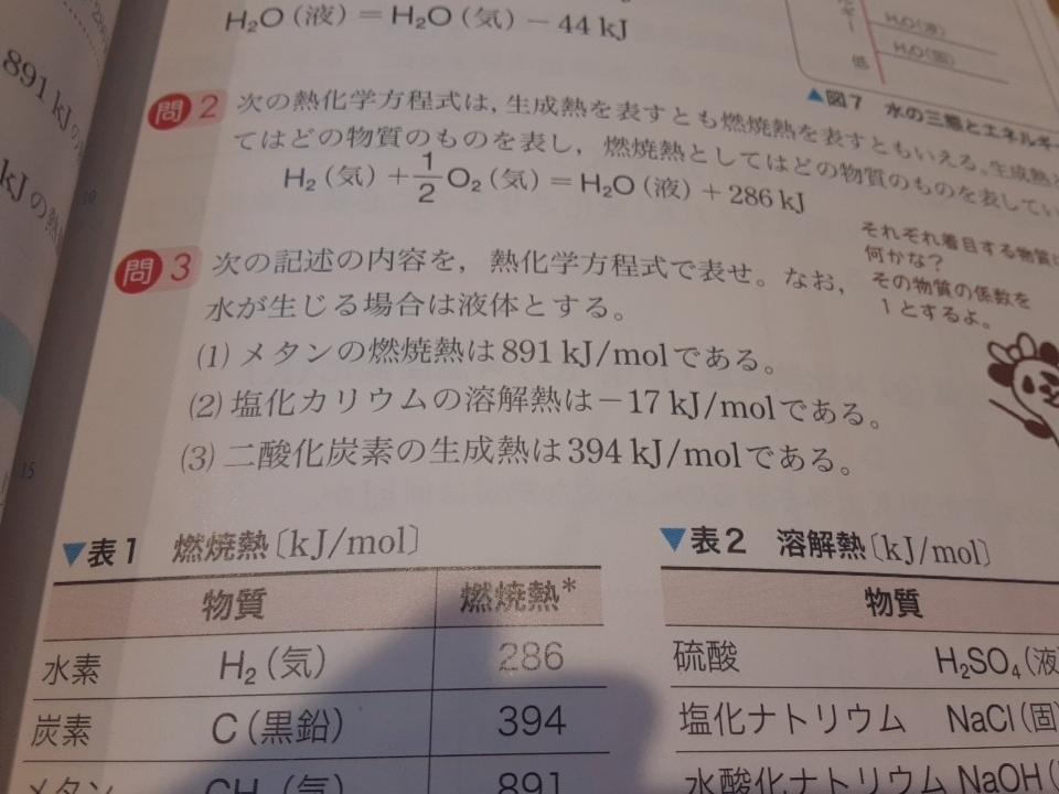 高校化学 反応熱 問3の答えと解説がないので教えてください! よろしくお願いします。