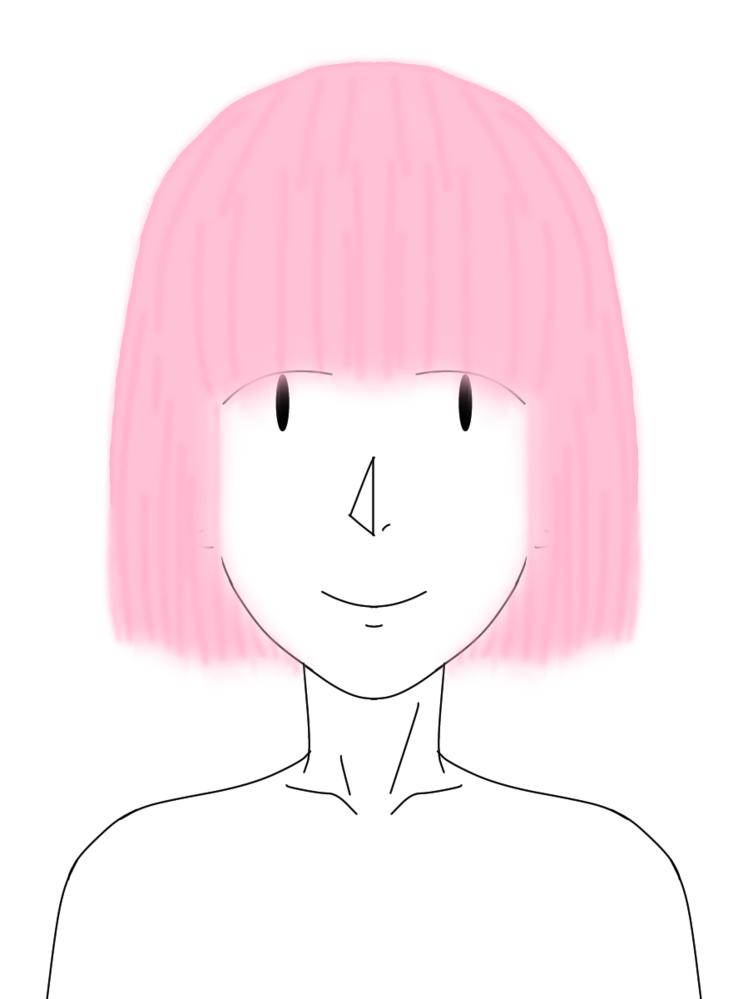 写真のような、髪型でピンク系のキャラって誰が居ますか? 出来れば男性を優先に教えて欲しいです!(女性も教えてください!) 絵は適当に描いたので伝わるか分からないですが…