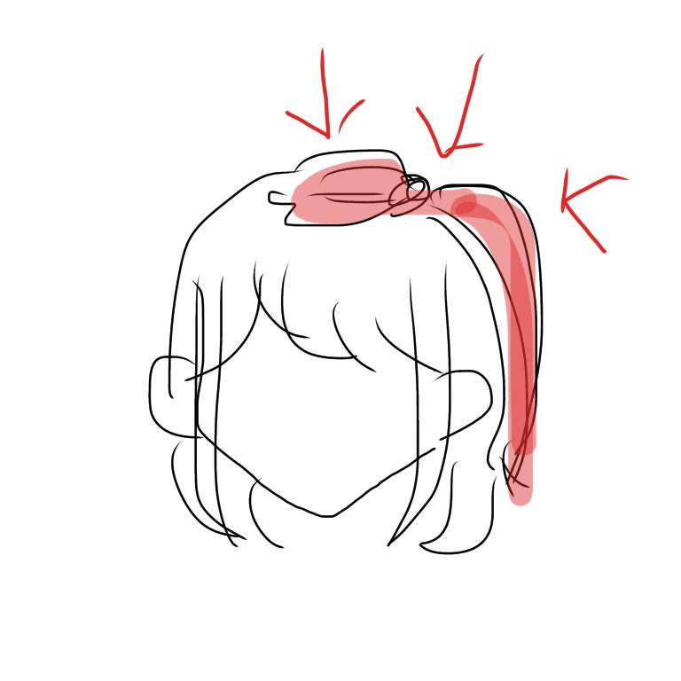 この絵の髪型の名前はなんて言うのですか?教えてください!! 絵が下手でごめんなさい、 頭のてっぺんの髪をちょっととって、サイドでしばる感じのやつです!小さい子がやっているイメージの!