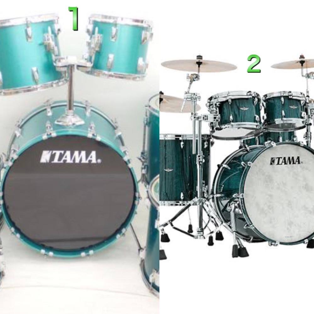 写真に写ってる1のドラムセットを島村楽器に持っていって2と全く同じ色に変えて欲しいって 言ったら変えてもらえますか?