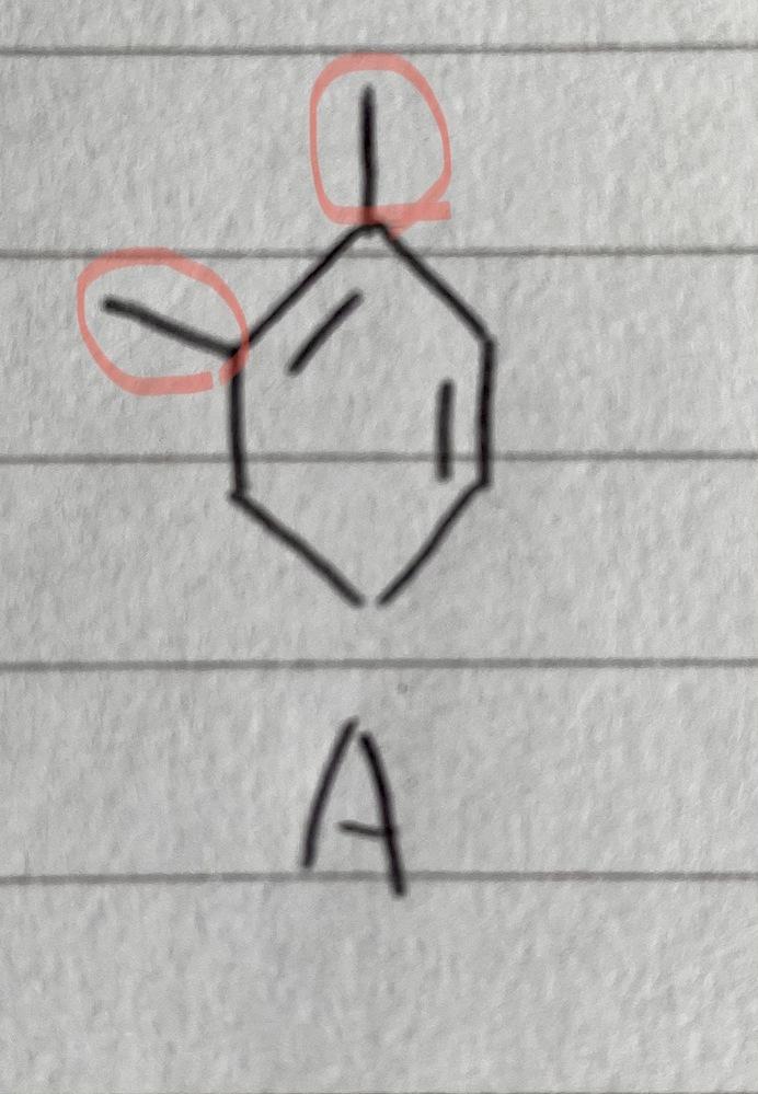 この構造式の赤で丸を付けた部分は何を表していますか? この線の先になにか結合しているのですか?