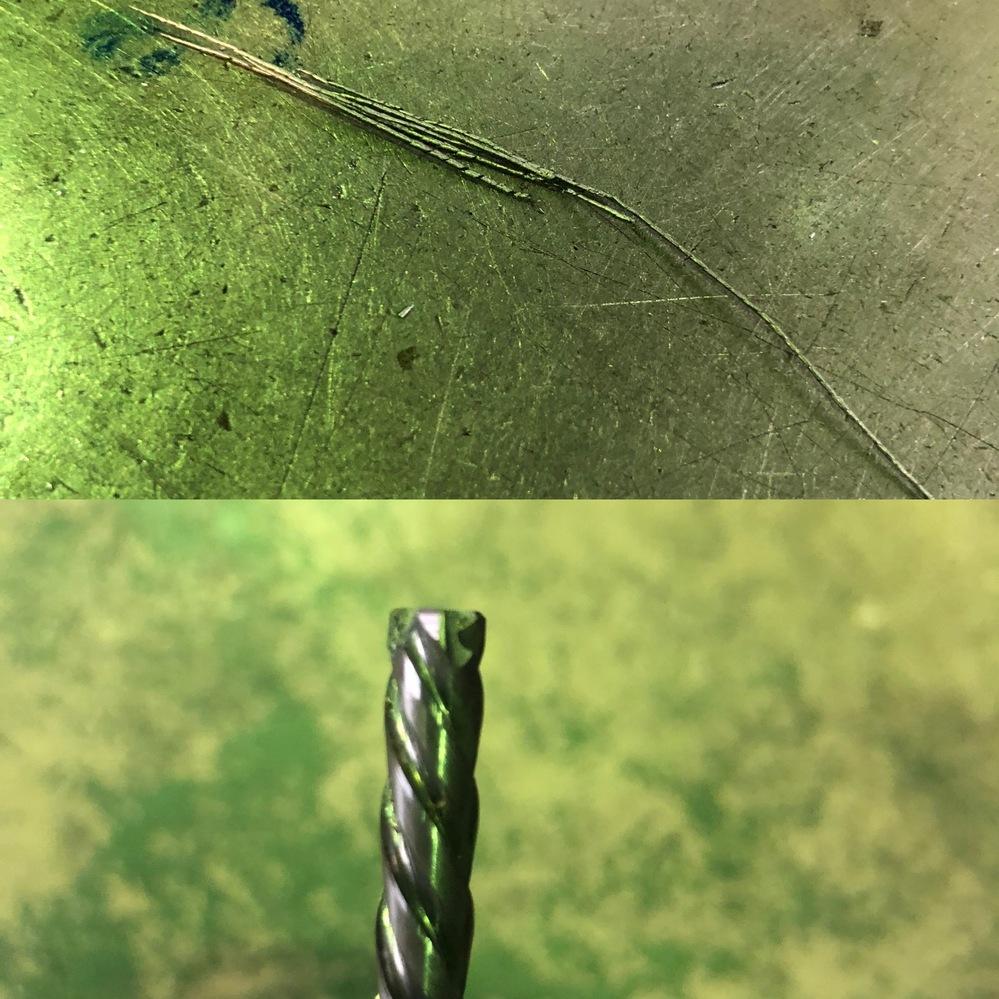 こんばんは! タフカットスキルリーマについて。 切り子が長細く、リーマのねじれが左ねじれになっています。 初めてフライスで使ってとても驚きました。 マシンリーマは切り子が分断されるんですが、 タ...