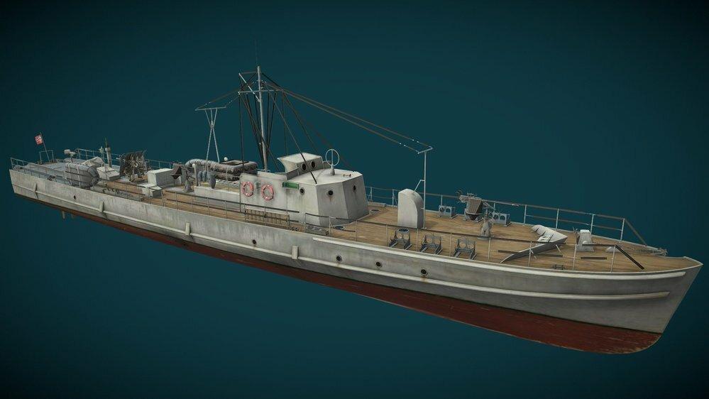 Rボート(ドイツ 掃海艇)はディーゼルエンジンなので煙突がないんですか(初期のにはありました)❓