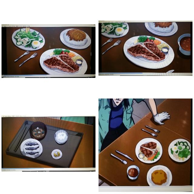 料理や食材に詳しい方に質問です。 「逆境無頼カイジ 破戒録篇」というアニメでこんな食材と料理を見つけました。これらの食材と料理は何という名前でしょうか?