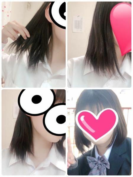 出来れば美容師のかたが希望です ♀️ ♀️ この春高校生になったものです。今、1~3枚目の写真の通りの髪型ですごくバサバサ、毛先がまとまらない状態です。 前に切ってもらった時は量が多くなったのですいてもらったらバサバサに伸びてきました。 理想は4枚目の写真のような髪型です。 どうオーダーするべきでしょうか、それとも髪質的に無理でしょうか...