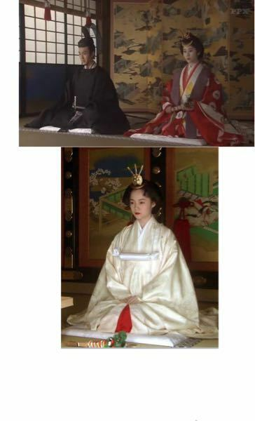 前の大河ドラマ「篤姫」で、上の家茂と和宮の結婚式では和宮は十二単ですが、下の家定と篤姫の結婚式では篤姫は白無垢です。和宮が十二単なのは、和宮が京出身であり高貴な身分だからですか?なぜですか? 歴史 将軍 江戸時代 花嫁