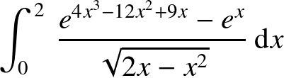 この定積分はどうやって計算すればよいでしょうか?