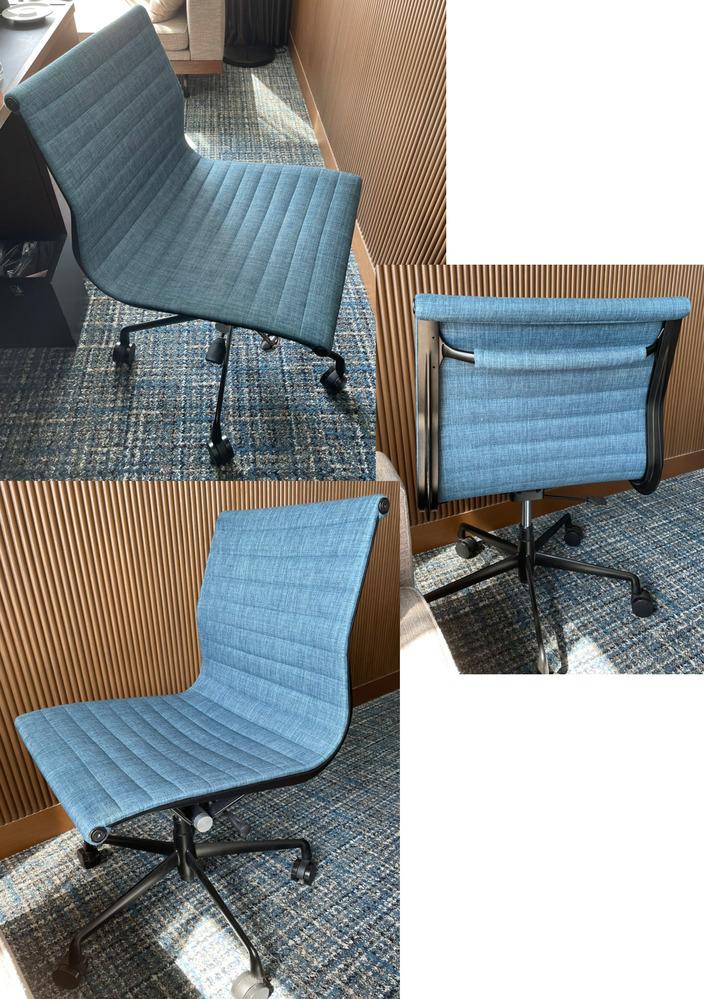 この椅子のメーカーや品番がわかれば教えてください。 ホテルにあったオフィスチェアでとても気に入ったので購入したいのですが、どこで販売しているか全くわかりません。 ホテルの方に問い合わせしたのですが、わからなかったみたいで教えていただけず。 どなたか詳しい方、教えていただけないでしょうか。