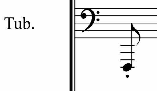 チューバを吹いてます。中学生です。 コンクールの曲で、Low B♭より下のFの音があるのですが、低くて上手く音が出ません。(B♭管です) 低い音を発音よく出す練習法などありますでしょうか。