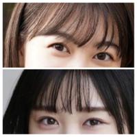 坂道パーツクイズ其の323 画像の現役、または元坂道メンバーは  上下それぞれ、誰と誰でしょう?