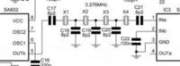クリスタルフィルタとトランスについてです。 アナログスイッチでのミキサー段以降はトランスを みかけます。 SA612でもトランスを見かけます。 誤解かもしれませんが1:1と思います。  画像のフィルターにはトランスがないのですが この違いはなんですか? このぶんは3MHzとやや他に見ているよりも一桁周波数が 低いのもあるのでしょうか?  あるいは計算ソフトでたまたまSA6...