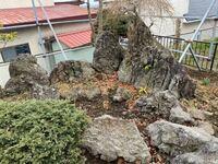 中古住宅を購入しました。 立派なお庭付きです。 そんな立派なお庭にすっごく大きな庭石がありました。 お詳しい方この画像で 石の種類を教えてください。 宜しくお願い致します。