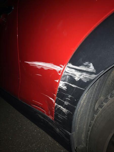 この傷と凹みを完全に直すのにいくらくらいかかりますか?車種はミニクーパーSです。中古で購入しました。
