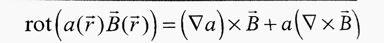 rot(a(r→)B→(r→))=∇a×B→+a(∇×B) この式(画像あり)の証明を教えて下さい。 ベクトル解析の問題です