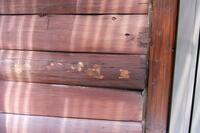 この壁の色はマホガニーでしょうか?  ログハウスの外壁塗装をします。 この色はマホガニーでよいでしょうか?