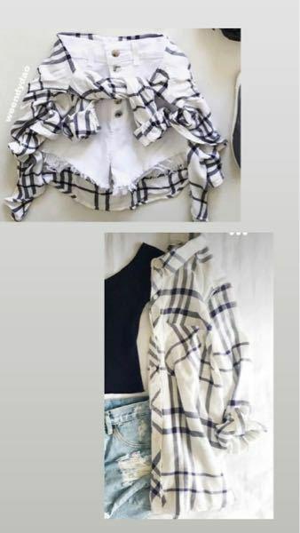 画像のようなレディースシャツを探しています。 白のチェック柄シャツです。 細かいギンガムチェックではなく大きめのチェック柄がいいのですがなかなか見つからないです。 URLか、検索ワードを教えて頂けると幸いです。 ギンガムチェック、チェック柄、シャツ、服、春夏秋冬、コーデ
