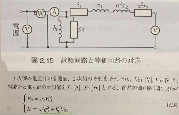なぜ電流I0が緑部分の式で求まるのでしょうか?