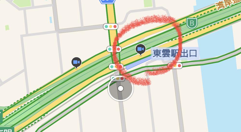 Yahooカーナビの地図にある 青いマーク【緑の物もある】は なんでしょうか?