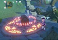 原神のギミックについてです 青虚浦のこの宝箱のギミックの火をつける灯籠の場所がひとつだけ分かりません。 光ってない方向を探してもありません。どこでしょうか、、、
