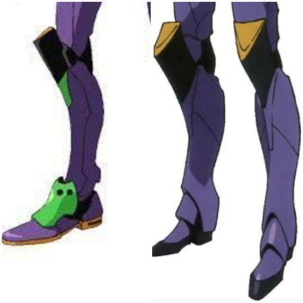 新劇場版のエヴァはQからは脚の拘束具が無くなって膝に付いていた物のデザインが変わっていたのは何故ですか?