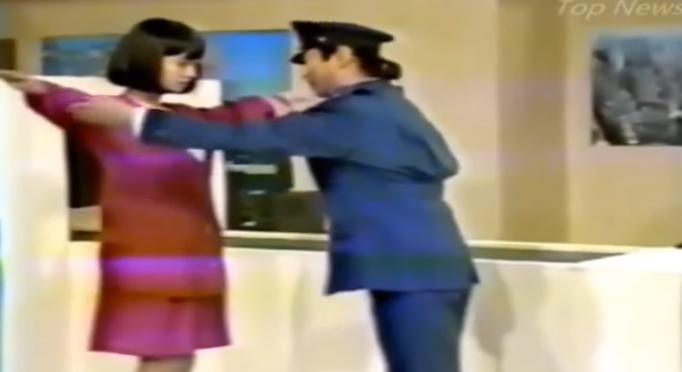 志村けんさんの昔の番組で検問のネタ?に出てきた左の赤い服を着た女性の名前を知ってる方が居たら教えてください。