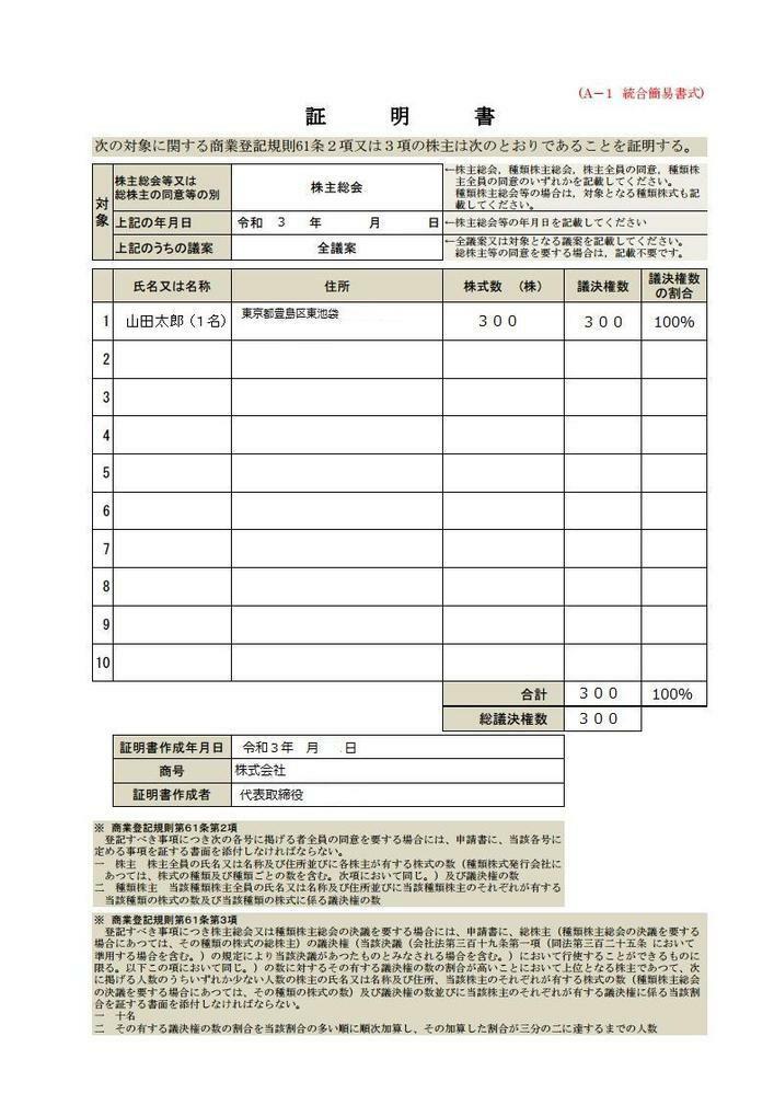 「解散登記の申請」で提出する「株主リスト」と、 「精算完了登記の申請」で提出する「株主リスト」とは、 以下の画像のように、同じものですか。