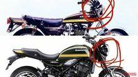バイクのライトについて 自分は旧車のcb1100fが好きなのです。特に現行のバイクよりもヘッドライトの位置が高くなってるのが好きです。 そこで、現行のバイクのヘッドライトの位置を高い位置に置くことは可能なのでしょうか?