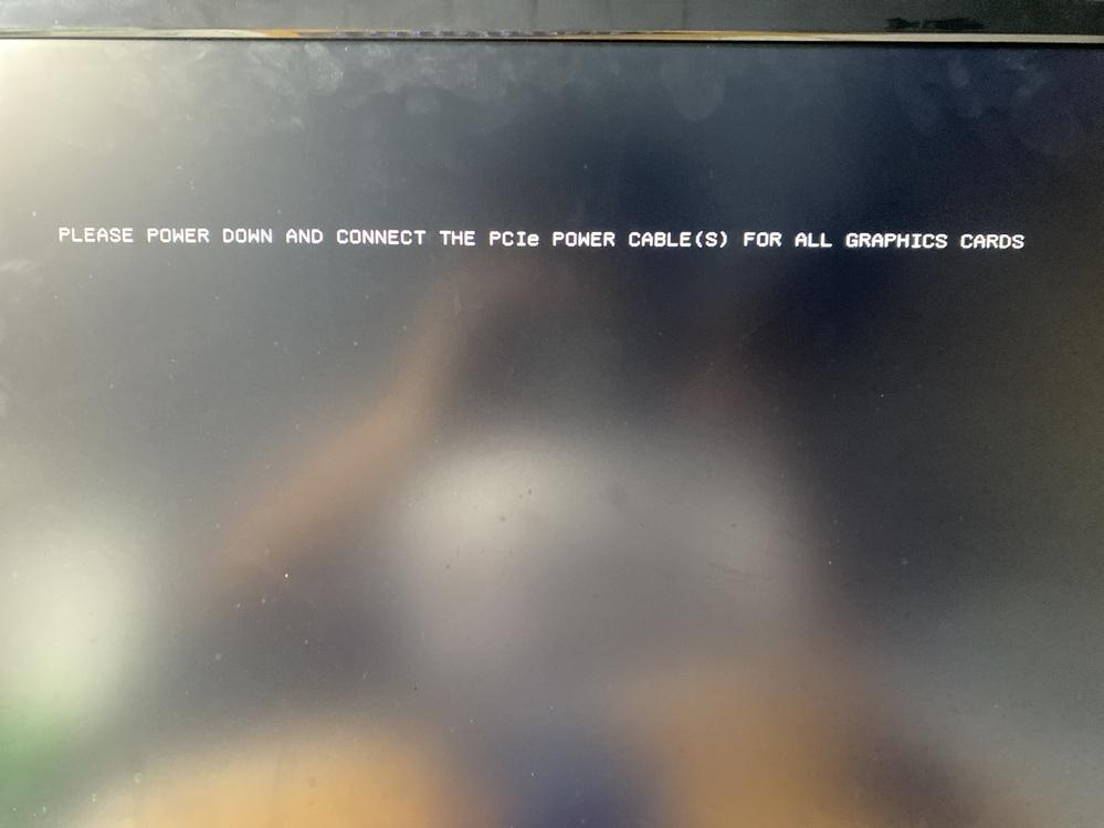(至急)ケース交換をしBIOSを起動したところこのような文字が出ました。翻訳もしてみましたがよくわからず対処法を教えてください。