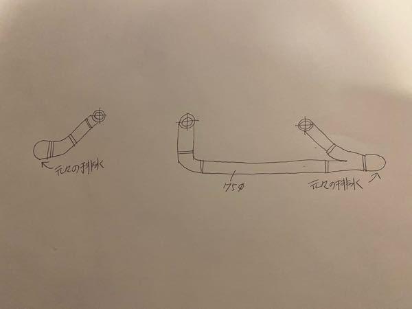 はじめまして! 新米現場監督見習いです! 今テナントの工事をしてまして 元々大便器が2つあった所に大便器を3台付ける事になりました。 解体工事が終わりまして、床に現在75Φの配管が2つあってトイレのフランジが付いてるので床面に合わせて切って配管のみにします(元々のトイレは床のレベルなどが上がっていないためスラブに直接固定されています) トイレの位置が変わるので床スラブの上に配管を転がして新設する3箇所に配管を立ち上げます。 そこに新たに床を作って配管を見えなくして大便器を設置するのですが 新設する1つ目の大便器は元々2つあったうちの排水管の1つを使用 新設する2つ目と3つ目の大便器は元々2つあった残りの1つの配管を分岐させて配管工事をする。 ↑ これは特に問題ないですか?? 床は削ったり出来ないので持ち出しエルボで配管して既存の穴に入れる。 つこんな形でやってもらっていいですか? 心配性なので先輩達に聞く前に自分で知りたいなと思いました。 よろしくお願いいたします!
