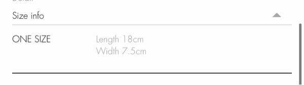 韓国の通販サイトなのですが、この表記はサイズが18cm、長さが7.5cmという認識で間違えないでしょうか?